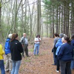 Terry O'Leary and McDuffy Barrow leading a group of educators through a trail at the 14th Annual Environmental Educators Roundtable