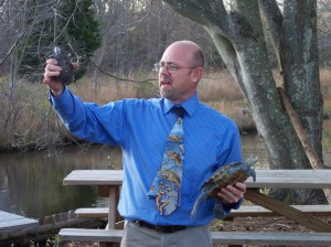 John Wnek of the MATES Academy in Manahawkin, NJ uses the terrapin turtle as an educational tool to emphasize the importance of protecting our natural resources.