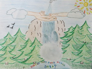 """Where Does Your Watershed"" 1st Place Winner for Grades 4-6, Alexander Donnelly of Lake Riviera Middle School"