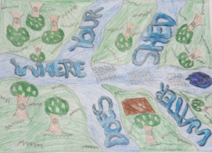 Third Place Winner Grades 7-9 Brandon VanBerkle of Lake Riviera Middle School