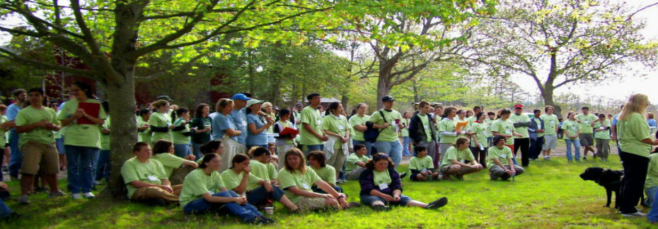 Envirothon participants gather for the morning welcome before beginning competition.