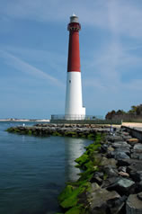 The Barnegat Lighthouse is an iconic feature to the Jersey Shore and lies in the heart of the Barnegat Bay.