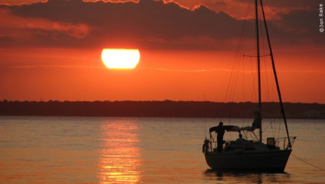 sunset on barnegat bay