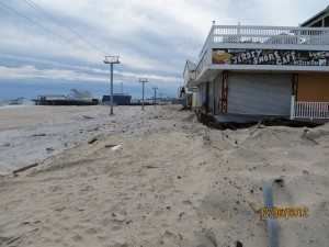 Superstorm Sandy effects on the Seaside Heights Boardwalk