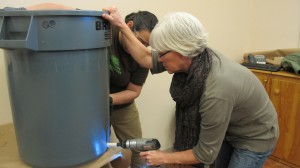 Make-and-Take Rain Barrel Workshop in Action!