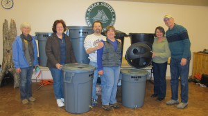 Participants with their newly made Rain Barrels